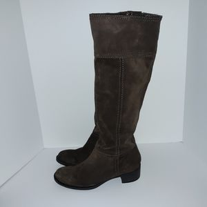 Nine West tall brown suede riding boots